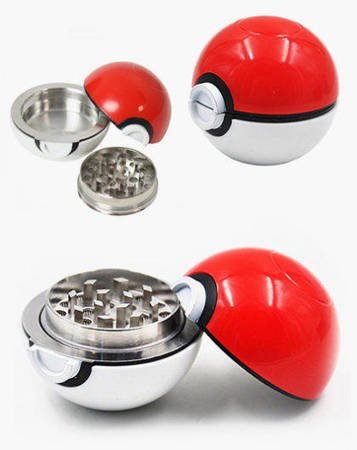 Acrylic / metal Pokeball grinder